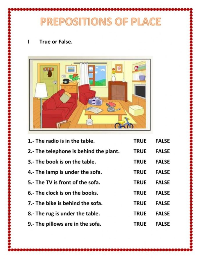 Prepositions Of Place Interactive Worksheet Esl Worksheets Father