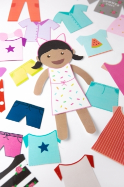 Paper Doll Girl: Party Fashion