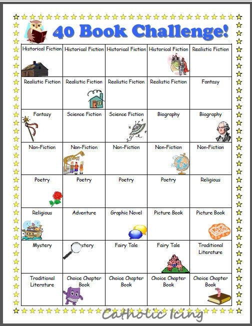 Printable Reading Charts For Kids  Book Challenge   Book