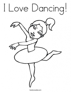 Color The Dancing Ballerina