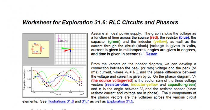 Solved Worksheet For Exploration  Rlc Circuits And P