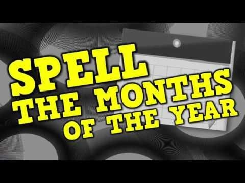 Spell The Months Of The Year Spelling The Months  Amp Clapping