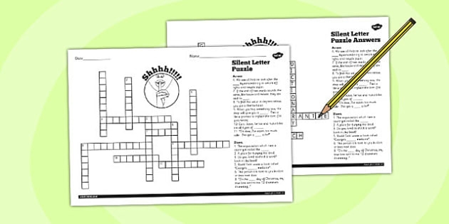 Spell Words With Silent Letters Y  Crossword