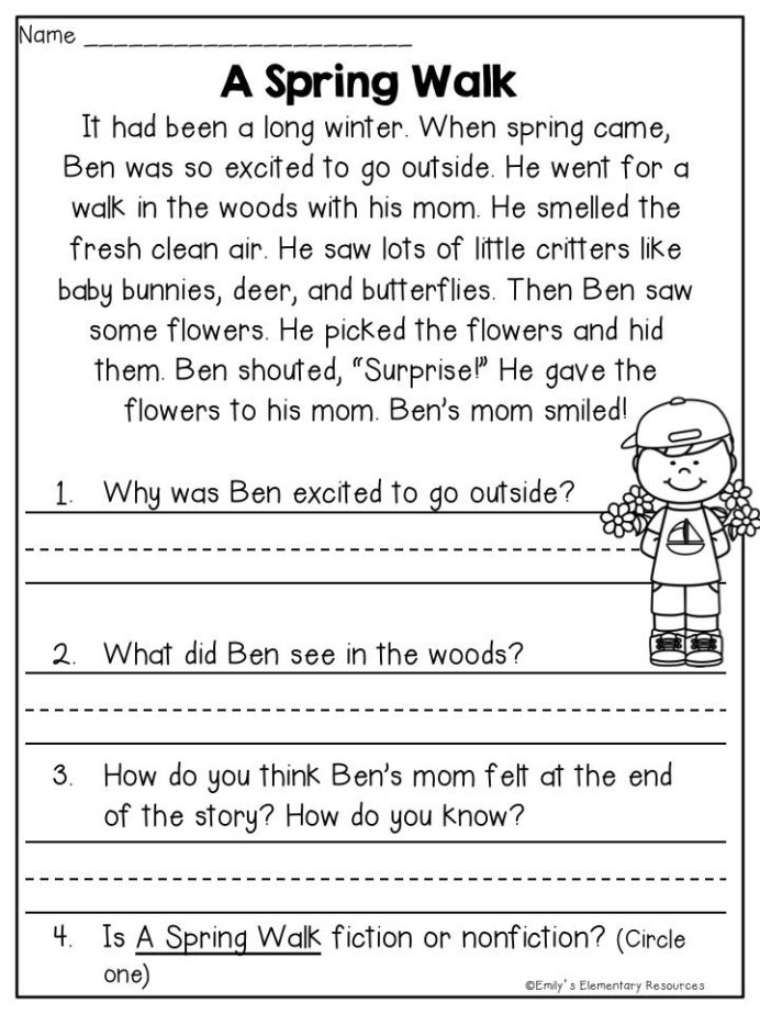 Spring Fling Writing Literacy Activities With Images Reading First