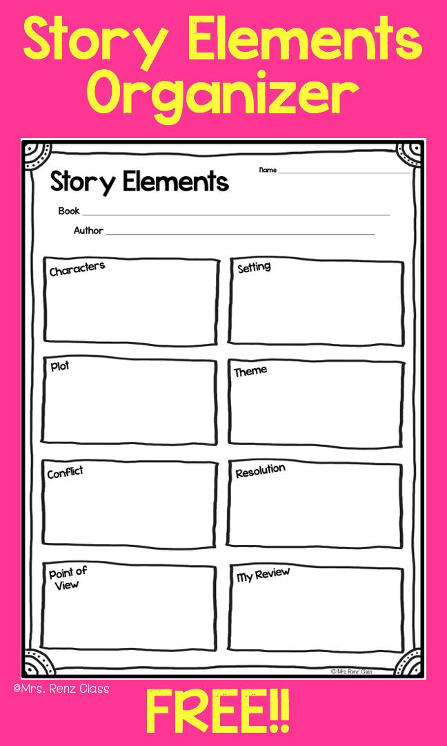 Story Elements Story Map Freebie