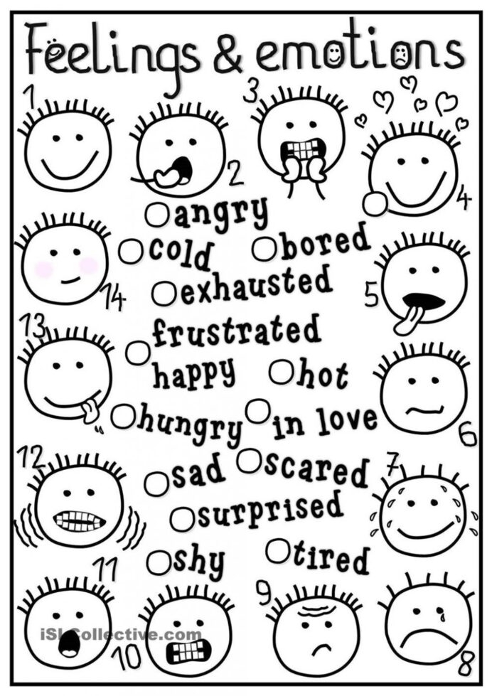 Top Emotion Coloring Feelings And Emotions Feeling Printable Time