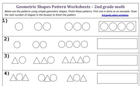 What Shapes Come Next Pattern Worksheet