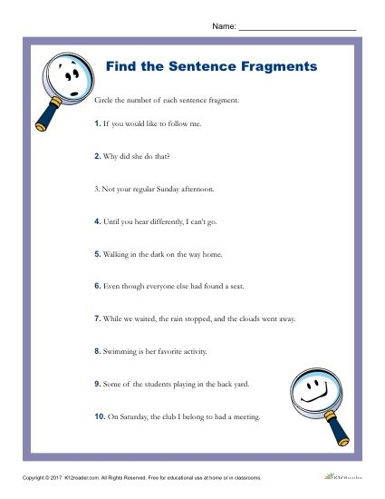 Which Of The Following Is A Sentence Fragment