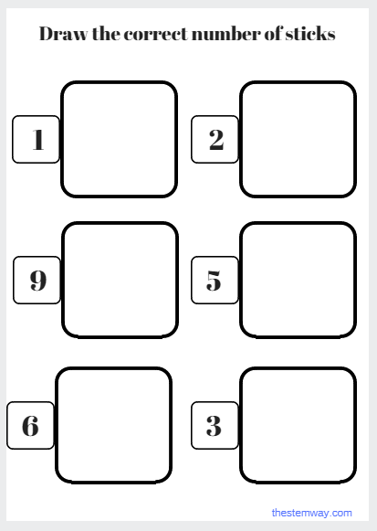 Worksheet Draw The Correct Number Of Sticks