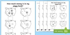 Counting Money: Piggy Bank