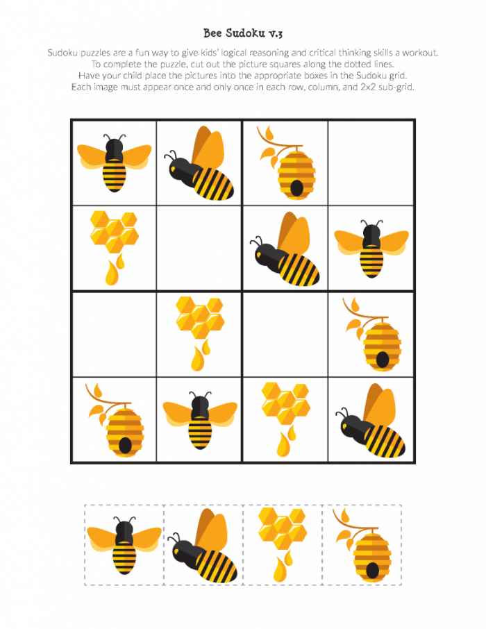Bee Sudoku Puzzles In