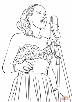 Billie Holiday Coloring Page
