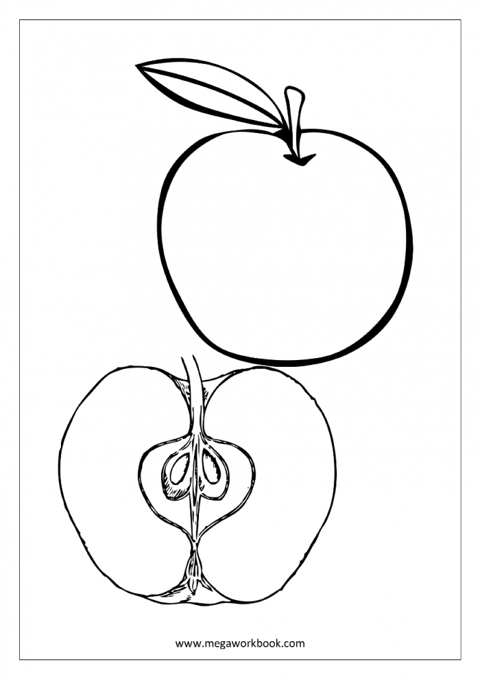 Coloring  Coloring Fruits And Vegetables Picture Ideas