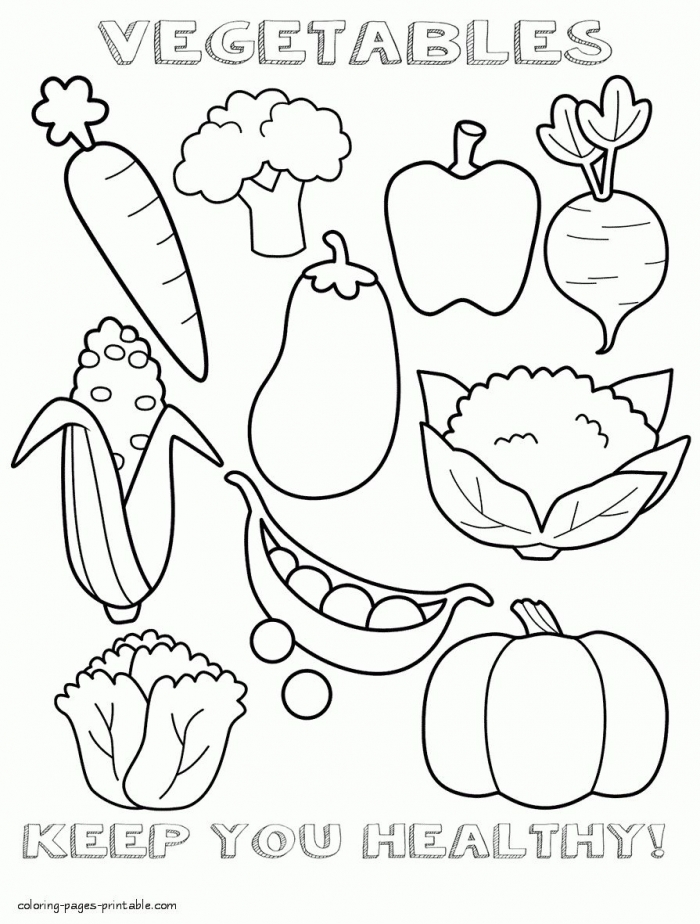 Coloring  Fruit Sheets Printable Food Cute To Print Healthy