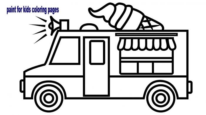 Transportation Coloring Page: Ice Cream Truck Worksheets 99Worksheets