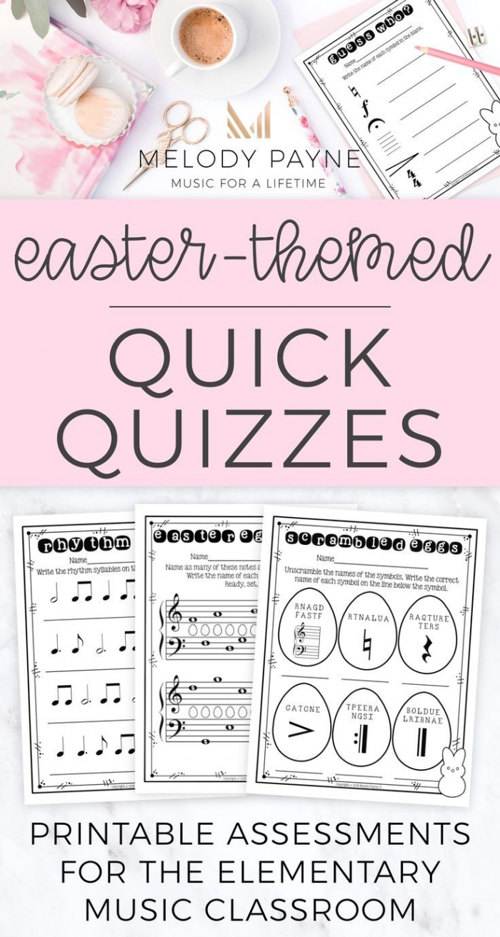 Easter Worksheets For Elementary Music Students