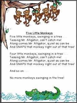 five little monkeys swinging in a tree archives 7
