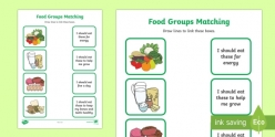 Healthy Eating: Food Pyramid Match-Up