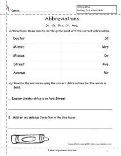Abbreviation Match-Up