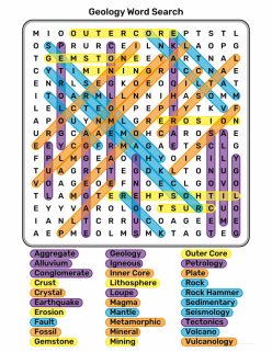 Geology Word Search