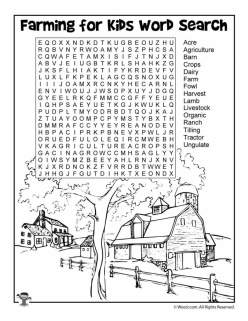 Vocab Word Search: Down On The Farm