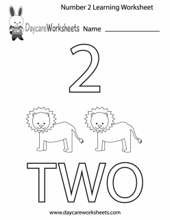Preschool Math: All About The Number 2