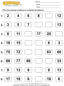 Number Sense: Complete The Pattern