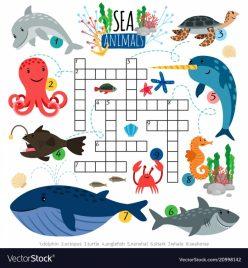 Ocean Animals Crossword