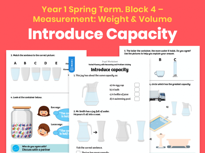 Of The Best Volume And Capacity Worksheets And Resources For Ks