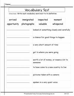 Check-In: Spelling And Vocabulary