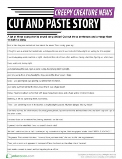 Cut And Paste: Sequencing Story Events