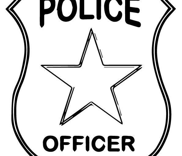 Police Badge Template For Preschool Free Print Coloring Image