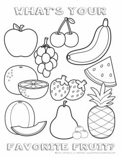 Healthy Food Coloring Page