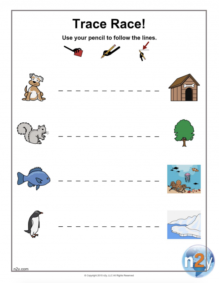 Printable Tracing Fun Trace Horizontal Lines Left To Right