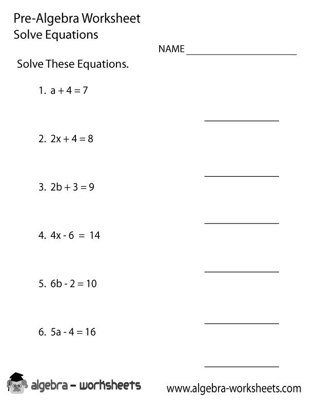 Solve Equations Pre
