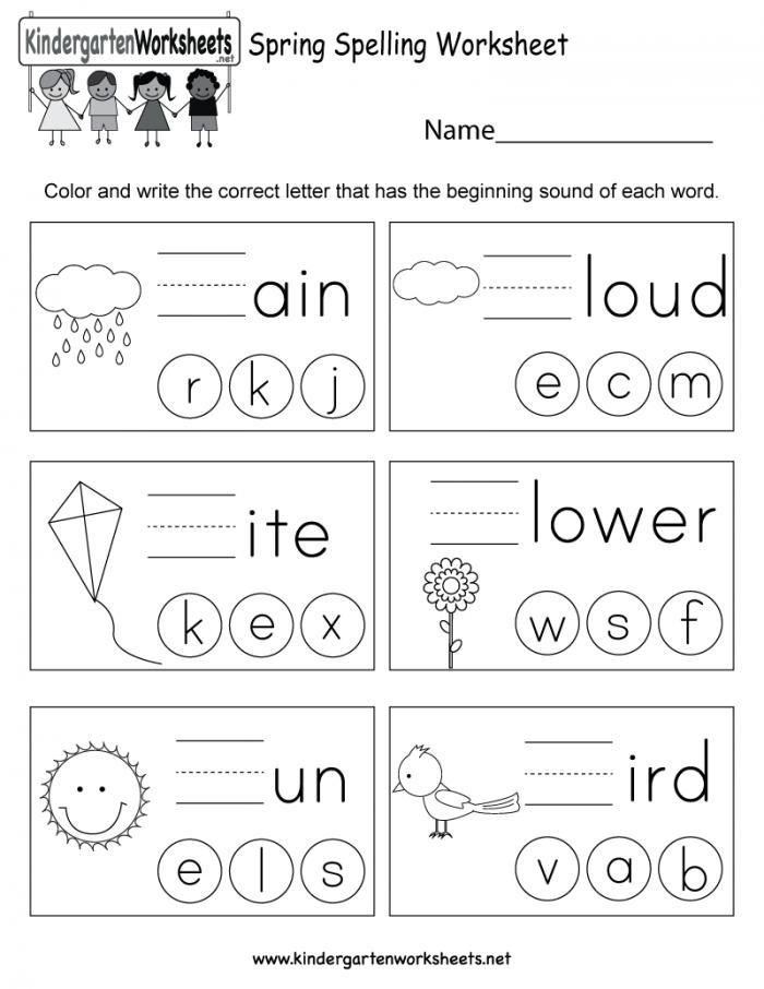 Spring Spelling Worksheets 99Worksheets