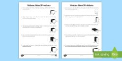 Volume And Word Problems