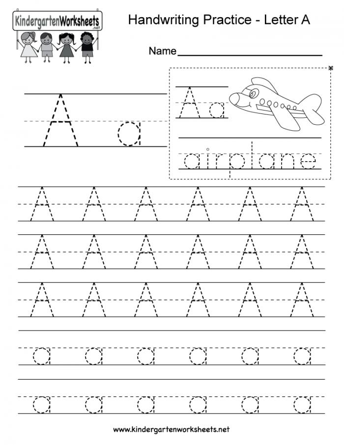 Alphabet Practice: A Worksheets 99Worksheets