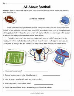 Reading Fluency: Football