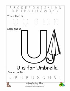 Learning The Letter U