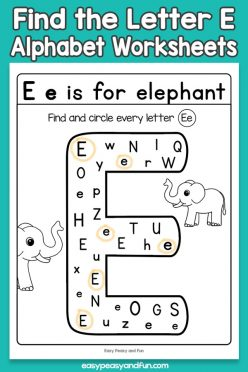 """Find The Letters: """"E"""""""