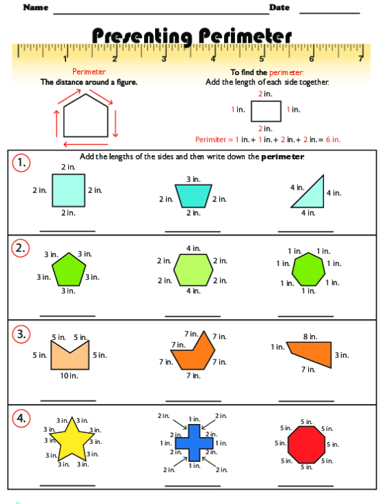 Find The Perimeter Real Life Objects