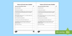 Checklist For Letter Writing