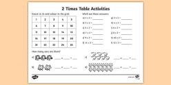Times Tables: 2s