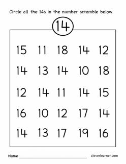Tracing Numbers And Counting: 14