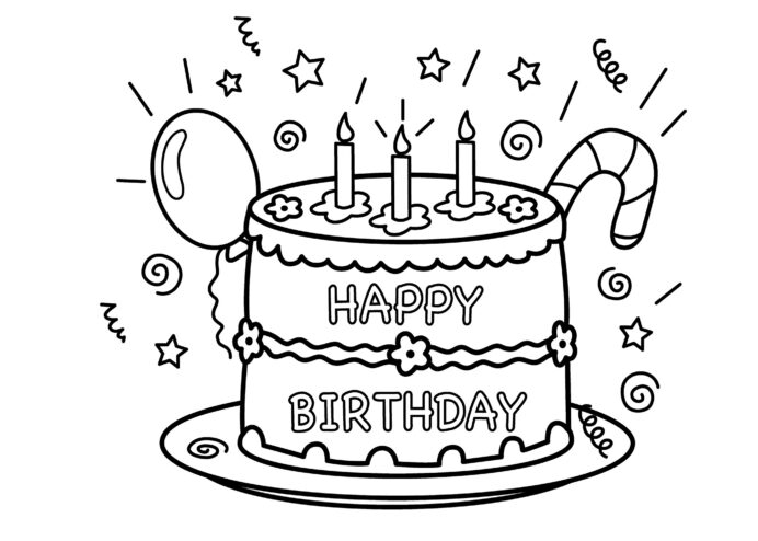 Free Printable Birthday Cake Coloring For Kids Color Puzzle Time