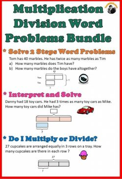 Multiplication And Division Word Problems Practice
