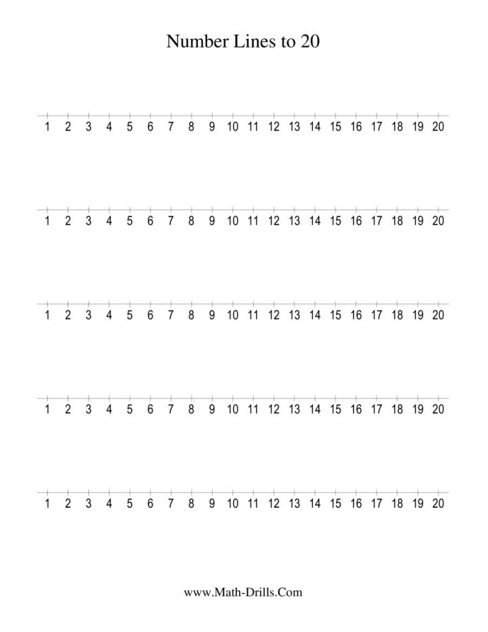 Number Line To  Counting By