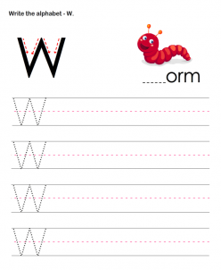 Practice Tracing The Letter W