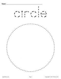 Tracing Shapes: Circles